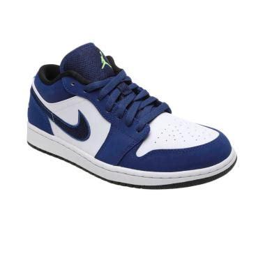jual nike air 1 low 553558 405 sepatu basket biru