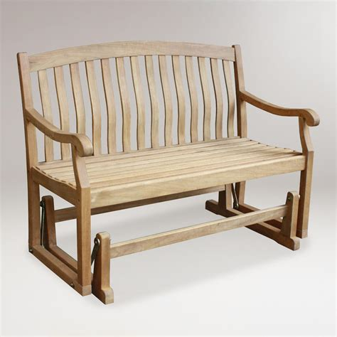 bench gliders teak glider bench world market