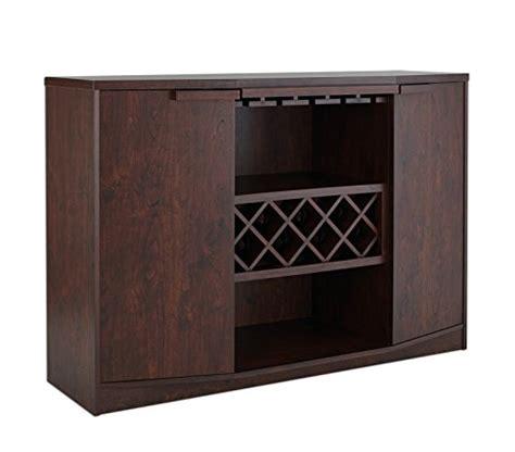 Iohomes Annadel Wine Cabinet Buffet Vintage Walnut Wine Buffet Cabinet