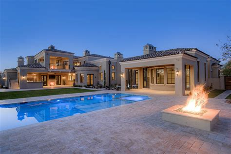 Mediterranean Luxury Homes by New Formal Mediterranean Home In Fulton Ranch Fratantoni