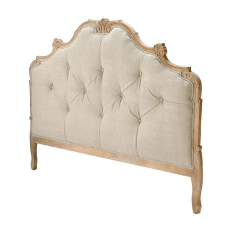 natural oak french country tufted headboard