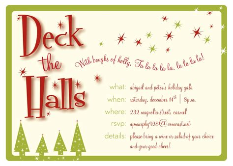 Home Decorating Company Coupon christmas party invitation
