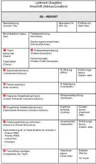 acht disziplinen 8d report