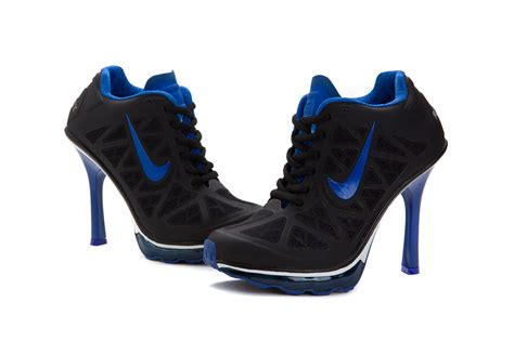 nike high heeled sneakers womens nike air max 95 high heels sneakers black blue