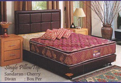 Kursi Sofa Procella sympony single pillow top sand cerry divan box per