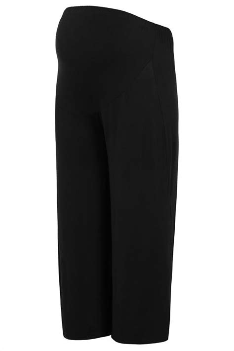 BUMP IT UP MATERNITY Black Palazzo Trousers With Comfort Panel Size 16 to 32