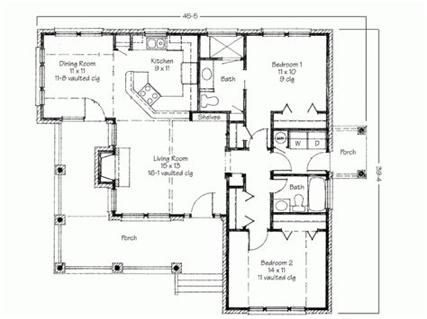 two bedroom house plans with porch
