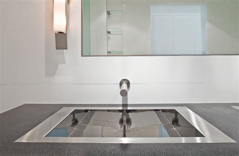 Flush Kitchen Sink Bathroom Lavs In A Flush Mount Installation New York By Mila International