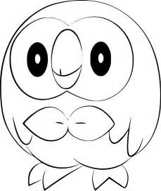 pokemon rowlet coloring