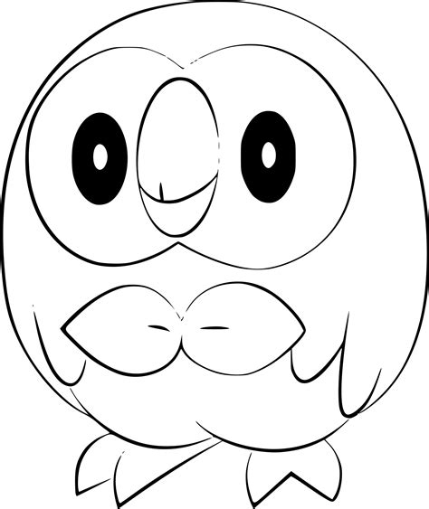 pokemon coloring pages swert pokemon rowlet coloring page pokemon rowlet anime cute