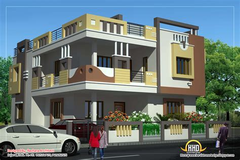 duplex house elevation designs duplex house plan and elevation 2878 sq ft kerala home design and floor plans