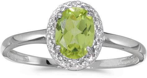 14k white gold oval peridot and ring cm rm2615xw 08