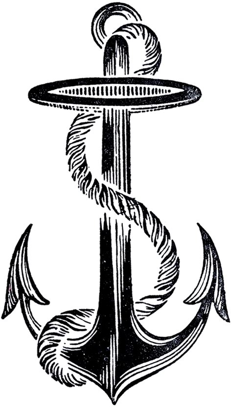 vintage anchor clip art 14