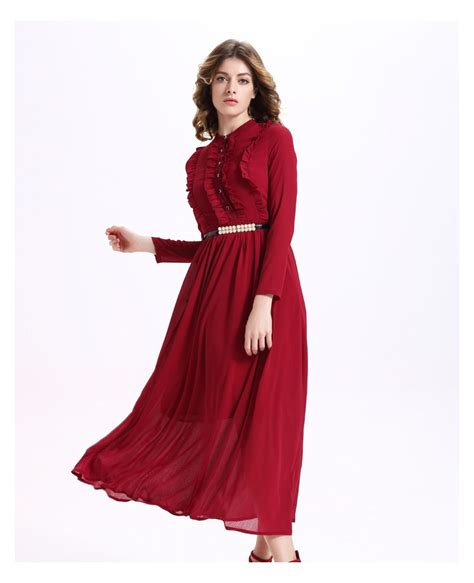 Sleeve Chiffon Dress sleeves burgundy chiffon dress gemgrace