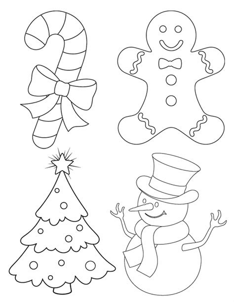 4 christmas pictures free printable coloring pages