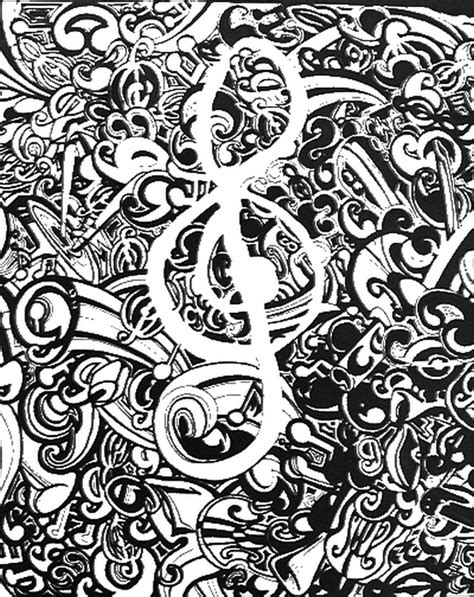 adult coloring page music 11