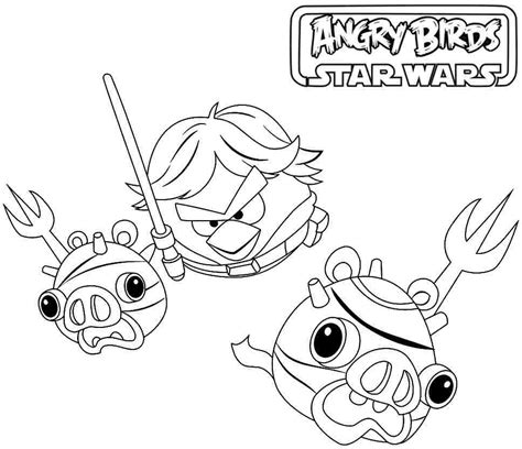 angry birds anakin coloring page angry birds star wars coloring pages printable coloring home