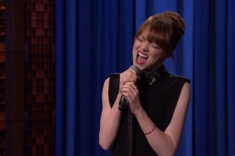 emma stone rap battle emma stone jimmy fallon s lip sync battle is the best