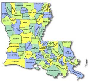 state map counties louisiana cart licensing county state and