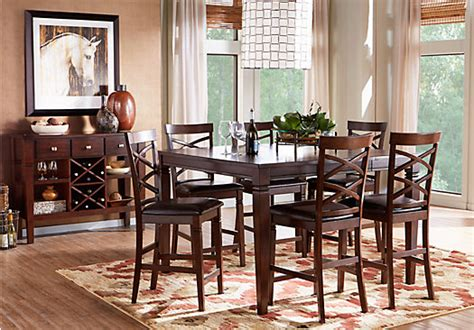 julian place chocolate counter height dining room sets suites furniture collections