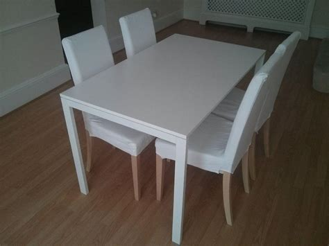 white table and chairs ikea chair idea vintage to modern homesfeed