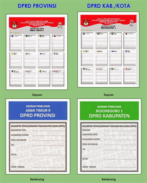 Tempat Sah Tong Sah 2 Warna tata cara pencoblosan dan contoh warna surat suara pemilu 2014 sepakat info