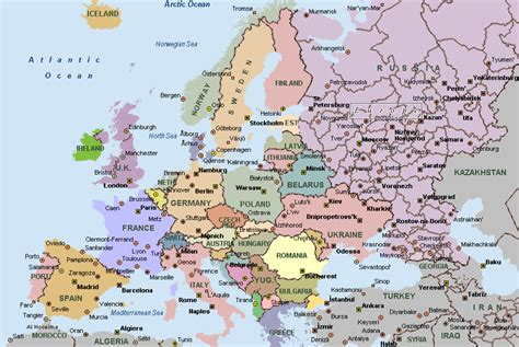 on europe map map of europe cities pictures europe cities map pictures