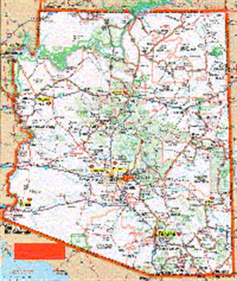 printable road map arizona arizona maps and state information