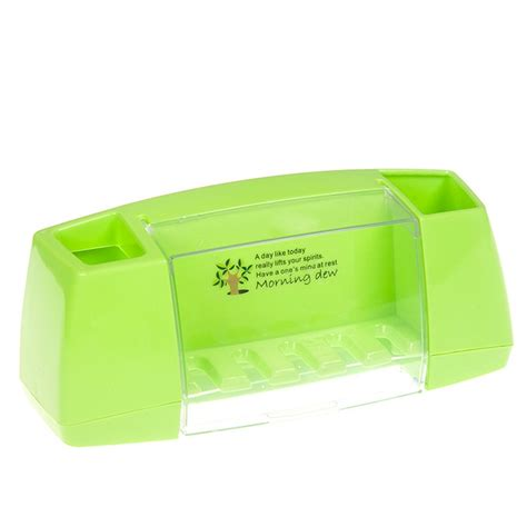 toiletries holder bathroom multifunctional toothbrush holder bathroom toiletries storage rack green tmart