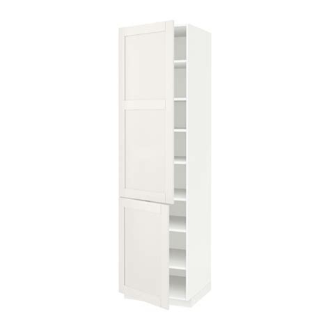 White Armoire With Shelves Metod High Cabinet With Shelves 2 Doors White S 228 Vedal