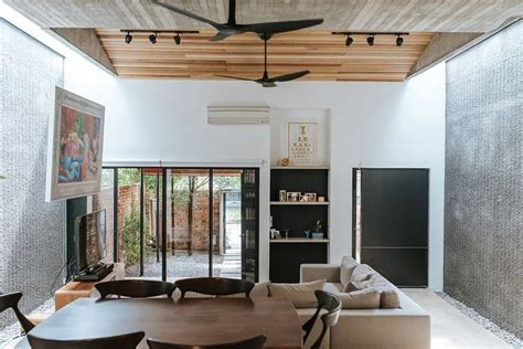 ttdi single storey terrace house redesigned   modern industrial home