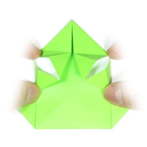 Traditional Origami Frog - how to make a traditional origami jumping frog page 9