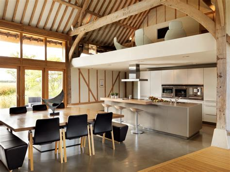 Contemporary Dining Room Chairs eco barn conversion contemporary kitchen cheshire