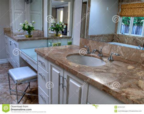Pretty Bathroom Neutral Colors Stock Image   Image: 31374721