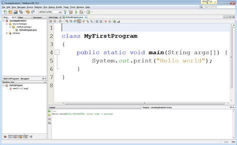 java netbeans hello world tutorial xhtml mr wachs classes
