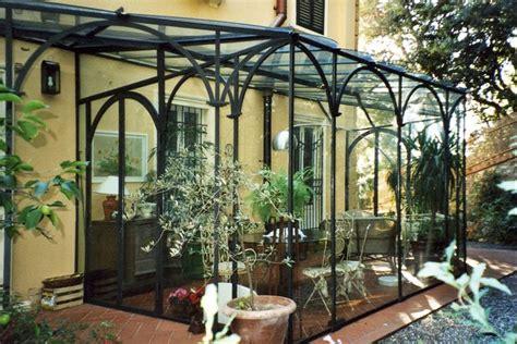 veranda  ferro battuto  vetro  realizzazione