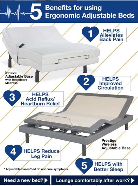 the 5 benefits for using ergonomic adjustable beds a better s rest