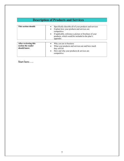small business plan templates small business plan template pdf