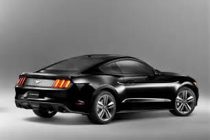 2015 ford mustang rendered in black autoevolution