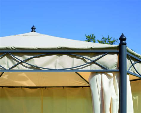 gazebo professionale gazebo 3x4 in ferro da giardino completo di tende laterali