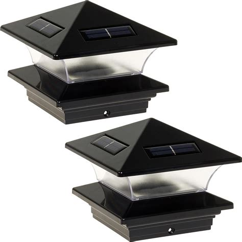 solar l post home depot greenlighting 4 in x 4 in solar powered integrated led