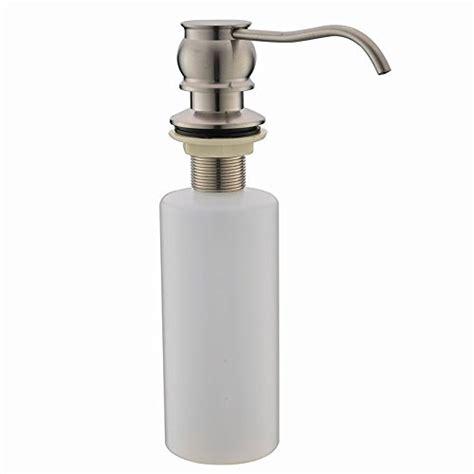 stainless steel countertop with built in sink vapsint brushed nickel sink built in soap dispenser