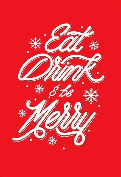 Eat, Drink and Be Merry Christmas Card   Greeting Cards