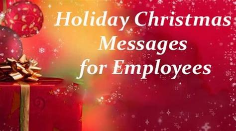 holiday christmas messages  employees christmas wishes