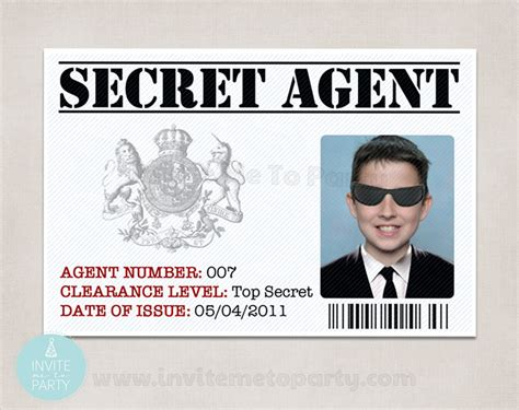 Detective Identification Card Template For by 6 Secret Id Detective Id Id