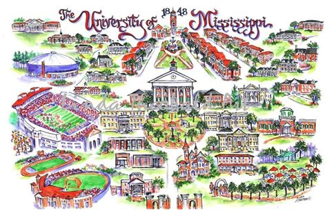 ole miss cus map drawing of cus ole miss