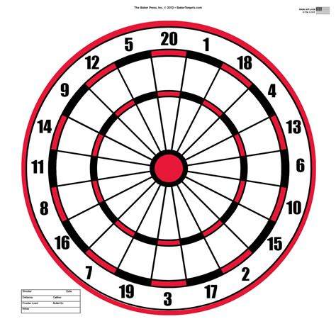 printable shooting targets games dartboard clipart clipground