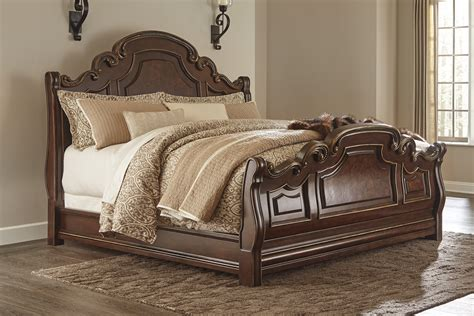ashley furniture king sleigh bed ashley florentown king sleigh bed dallas tx bedroom bed