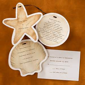 seashell wedding invitations theme wedding invitations