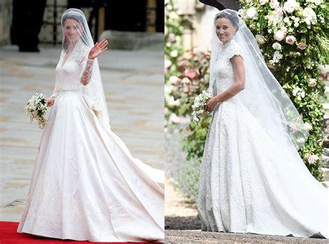 hochzeitskleid kate middleton pippa middleton s wedding vs kate middleton s wedding